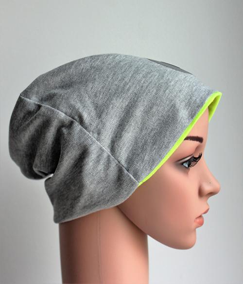 Djersey Mütze mit Neongelbem Einsatz