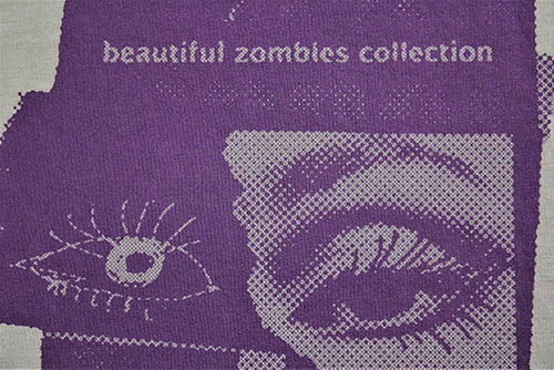 T-shirt zombies collection makroaufnahme