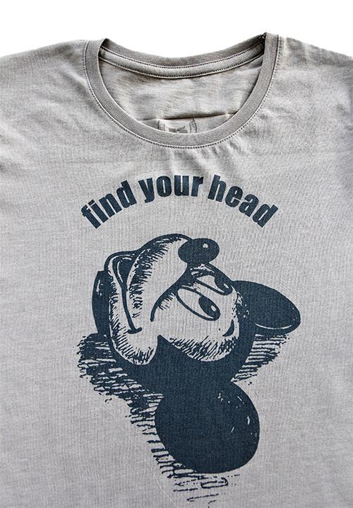 T-shirt grau collection find your head grössere Ansicht