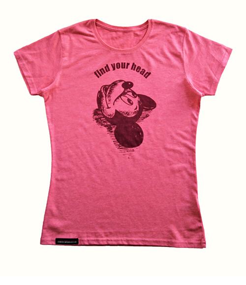 T-shirt mit Druck aus der Kollektion Fnd your head in rosa Produktansichtead Farbe rosa