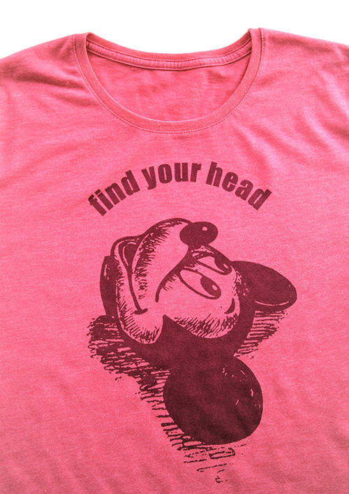 T-shirt collection find your head Farbe rosa