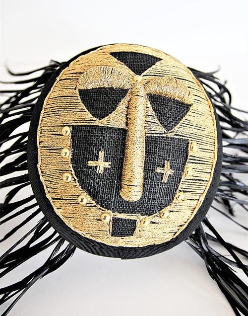"""""""African style"""" Fastinator-Hütchen mit Federn"""