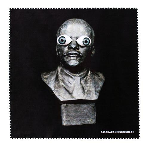 Mikrofasertuch mit Lenin und Glasaugen. Design Sascha Koneva Berlin