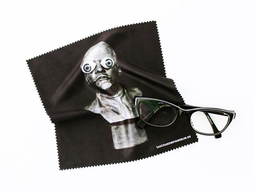 Brillenputztuch mit Lenin und Glasaugen