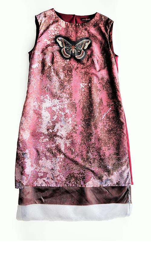 Besondere Stoffdesign. Ärmelloses A-Linien Kleid. Mode Design saschakonevaberlin
