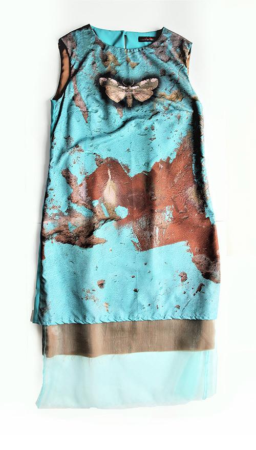 Ärmelloses A-Linien-Kleid. Mode Design saschakonevaberlin