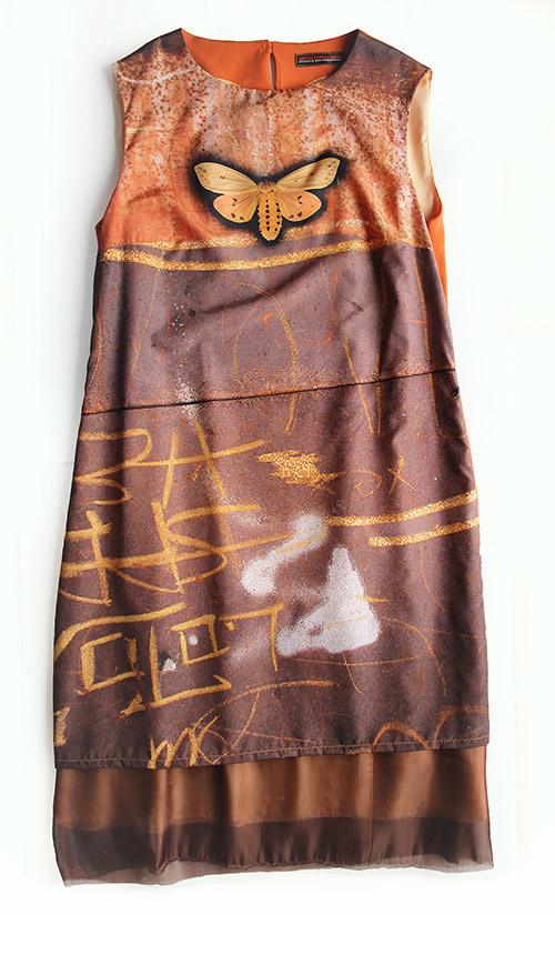 Ärmelloses A-Linien Kleid. Kollektion saschakonevaberlin