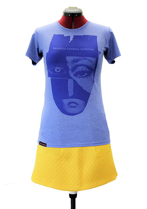 T-shirt zombies collection Musterbild in blau