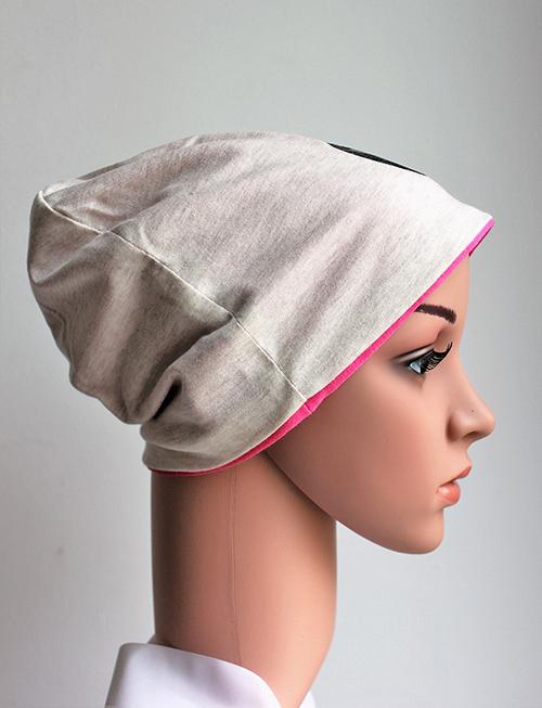 Djersey Mütze mit pinkem Einsatz