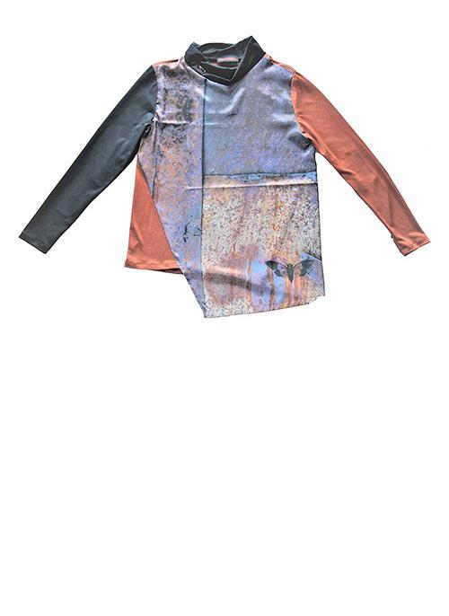 Rostbluse Muster 2 Produktansicht. Mode, Design und Stoff Sascha Koneva Berlin
