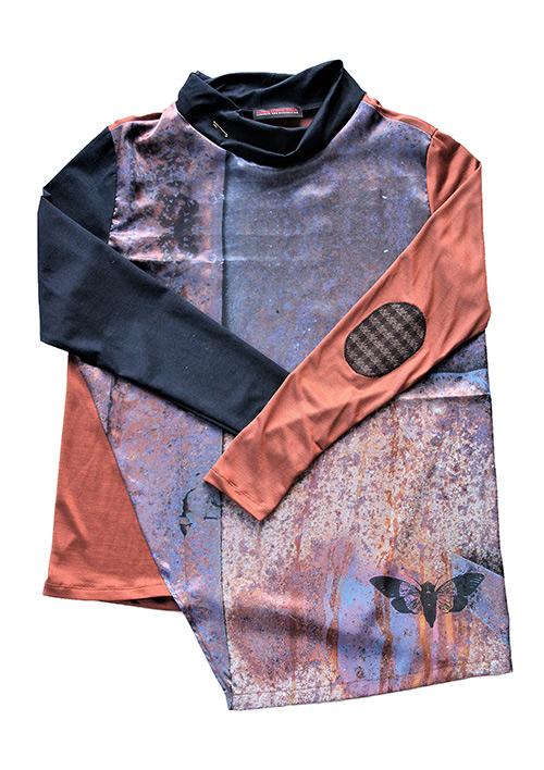Rost Bluse Muster 1 mit Ärmeln