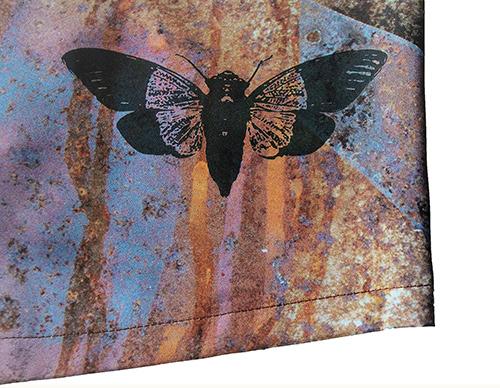 Rost Bluse Muster 1 mit Zikade