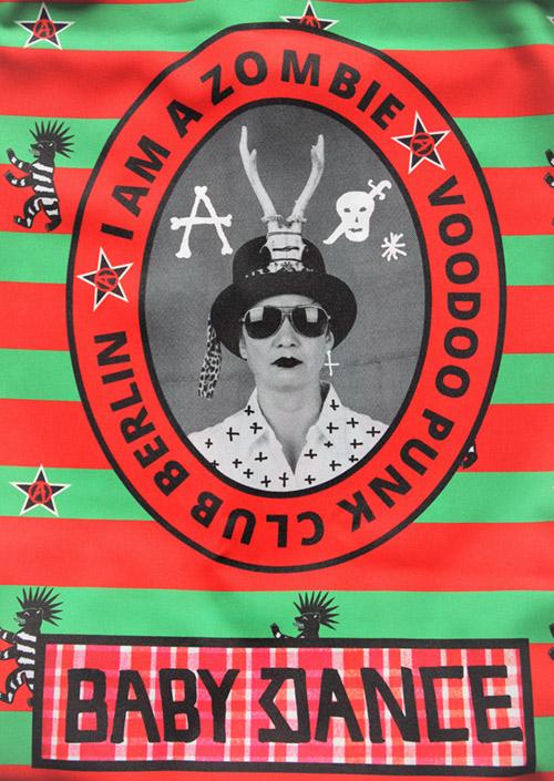 Voodoo Rock Punk Berlin grün mit Druck