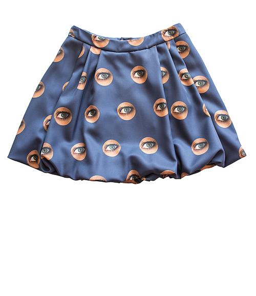 Ballonrock mit Augen-Muster. Mode, Design und Stoff von saschakonevaberlin n, Stoff