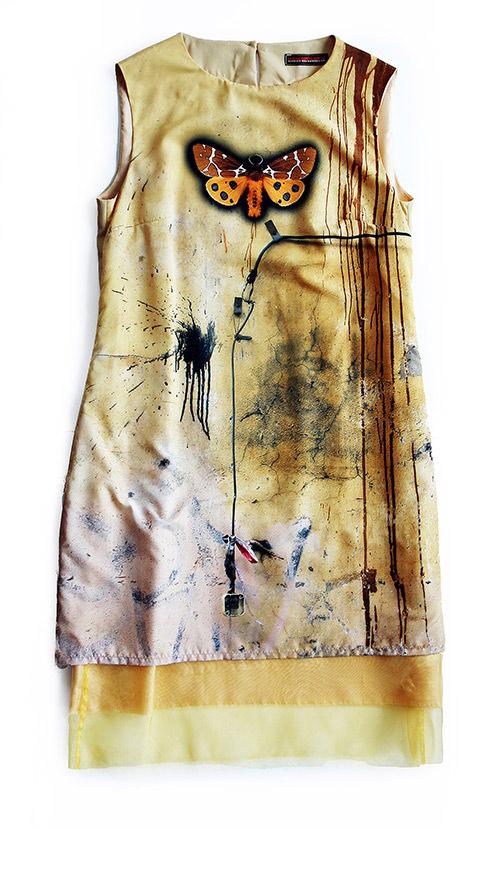 Ärmellos: A-Linien Kleid. Mode Design saschakonevaberlin