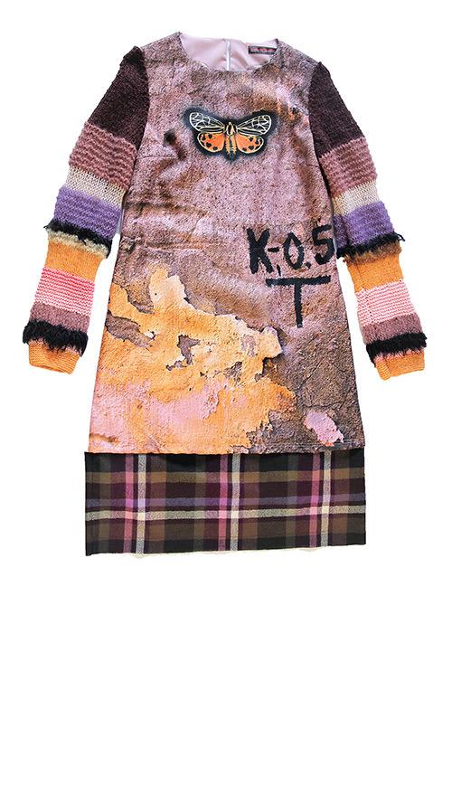 Schick: Kleid mit gestrickten Ärmeln. Mode Design von saschakonevaberlin