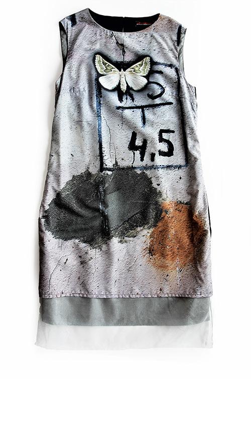 Ärmelloses A-Linien Kleid. Mode Design